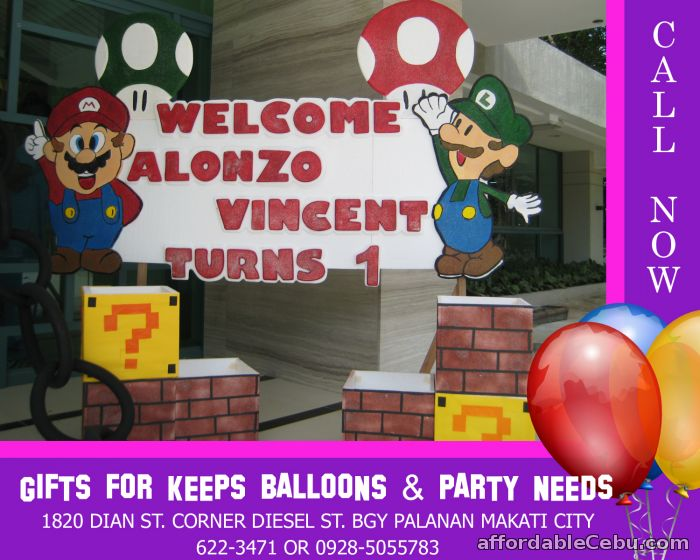 1st picture of Mario Brothers Styro Decoration For Rent in Cebu, Philippines