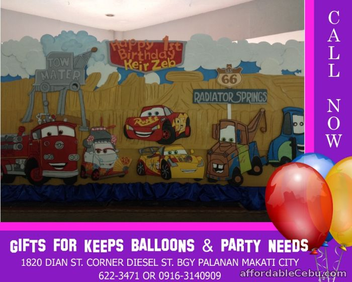 1st picture of Disney Cars Theme Styro Decoration For Rent in Cebu, Philippines