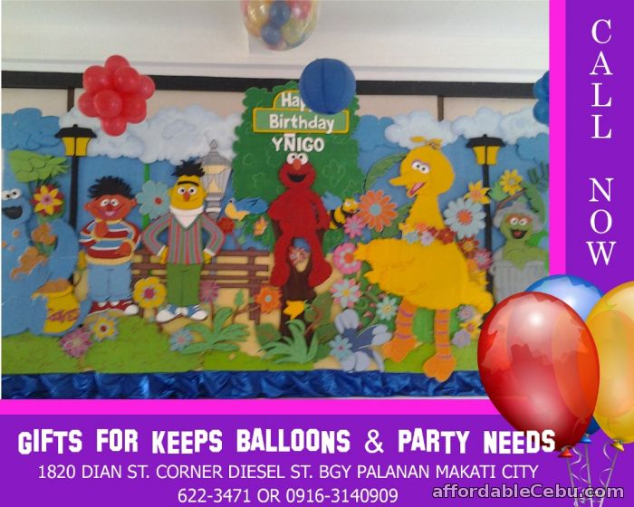 1st picture of Sesame Street Styro Decoration For Rent in Cebu, Philippines