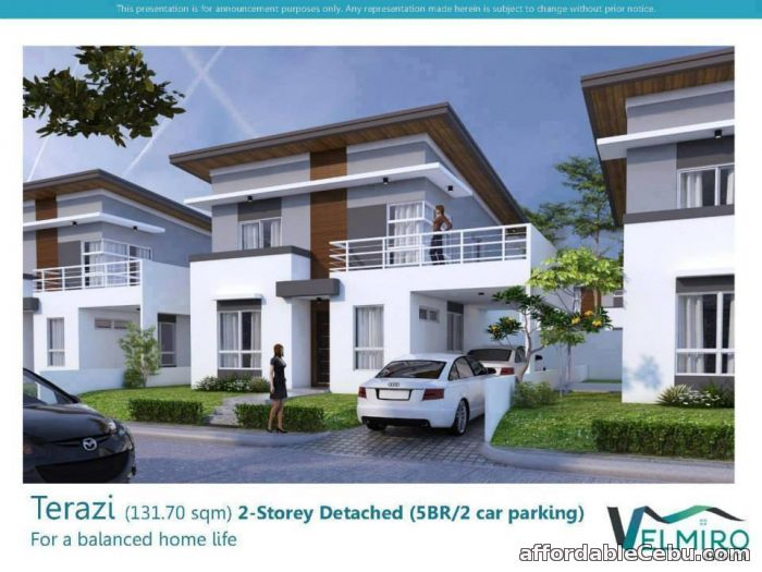 1st picture of Velmiro Heights 2-Storey Detached 5BR Terazi Model For Sale in Cebu, Philippines