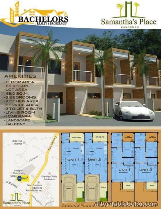 4th picture of Samantha's Place at Canduman, Mandaue City Townhouse For Sale in Cebu, Philippines