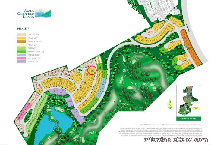 1st picture of AYALA GREENFIELD ESTATES CORNER LOT for Sale Near Golf Course For Sale in Cebu, Philippines