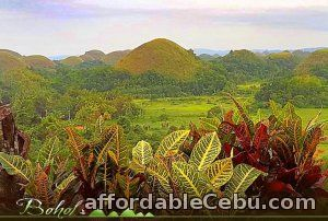 1st picture of Chocolate Hills, is Bohol's greatest pride in Bohol tour package Offer in Cebu, Philippines