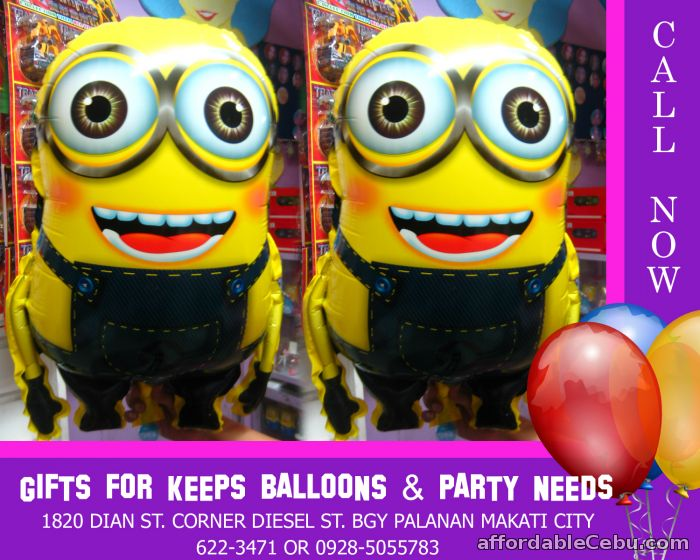 1st picture of Minions Balloon Mylar (Wholesale) 10 pcs minimum For Sale in Cebu, Philippines