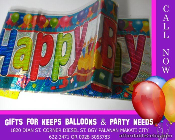 Happy Birthday Banner (Wholesale) 10 pcs minimum - Party & Entertain  Outside Cebu Philippines - 57029