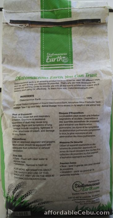 2nd picture of Diatomaceous Earth Food Grade (10 Lbs) For Sale in Cebu, Philippines