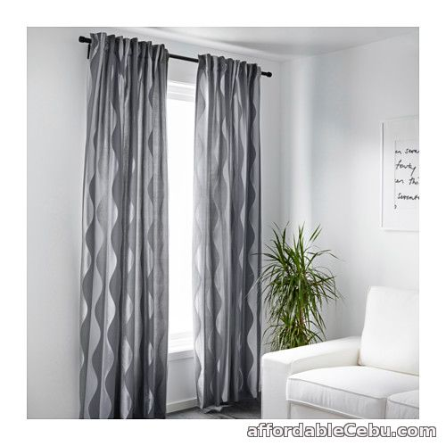 2nd picture of Murruta Curtains (Product of Sweden) Dark Grey For Sale in Cebu, Philippines
