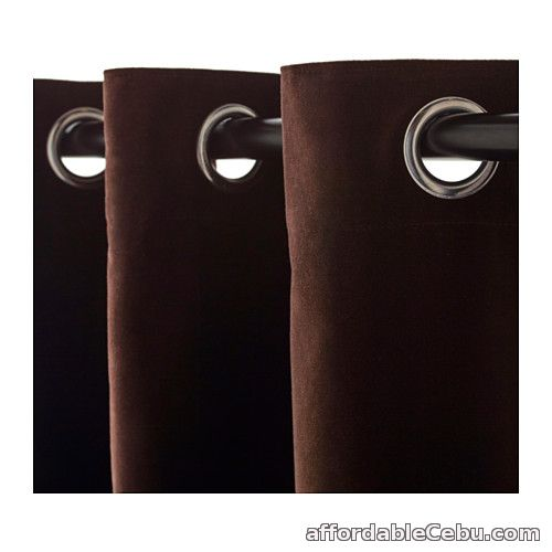 3rd picture of Sanela Curtains - Dark Brown (Product of Sweden) For Sale in Cebu, Philippines