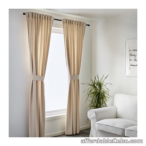 2nd picture of INGERT Curtains (Product from Sweden) Beige For Sale in Cebu, Philippines