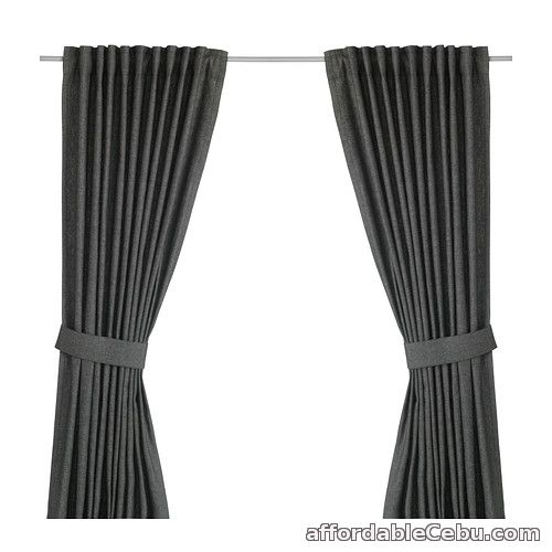 1st picture of INGERT Curtains (Product from Sweden) Dark Grey For Sale in Cebu, Philippines