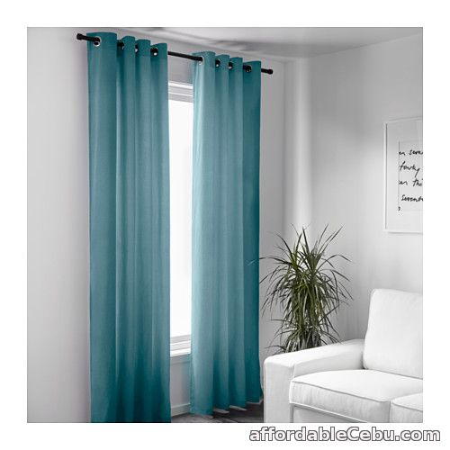 2nd picture of Sanela Curtains - Light Turquiose (Product of Sweden) For Sale in Cebu, Philippines