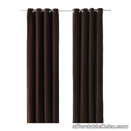 1st picture of Sanela Curtains - Dark Brown (Product of Sweden) For Sale in Cebu, Philippines