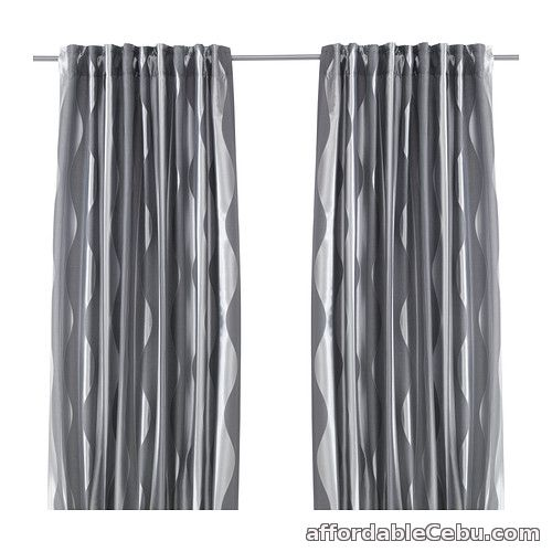 1st picture of Murruta Curtains (Product of Sweden) Dark Grey For Sale in Cebu, Philippines