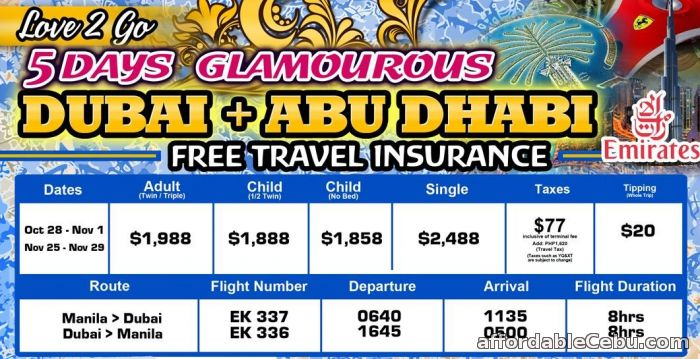 1st picture of 5 Days Glamorous Dubai + Abu Dhabi Tour Offer in Cebu, Philippines