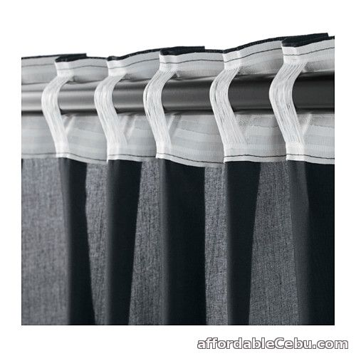 3rd picture of VIVAN Dark Grey Curtains (Product of Sweden) For Sale in Cebu, Philippines