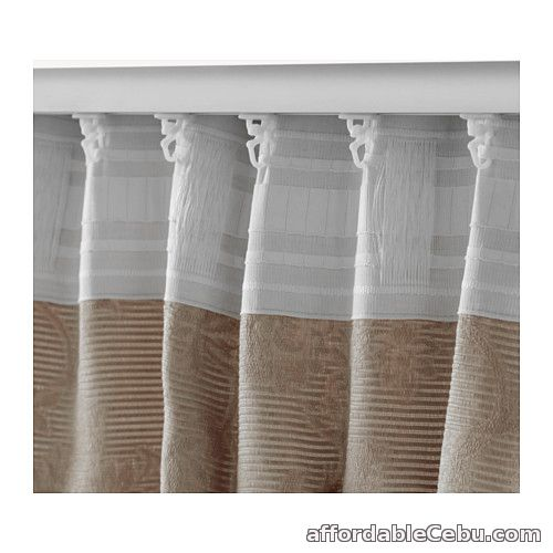 4th picture of BLEKVIVA Curtains Beige (Product of Sweden) For Sale in Cebu, Philippines