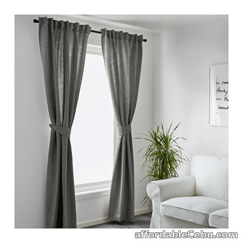 2nd picture of BLEKVIVA Curtains Moss Green (Product of Sweden) For Sale in Cebu, Philippines