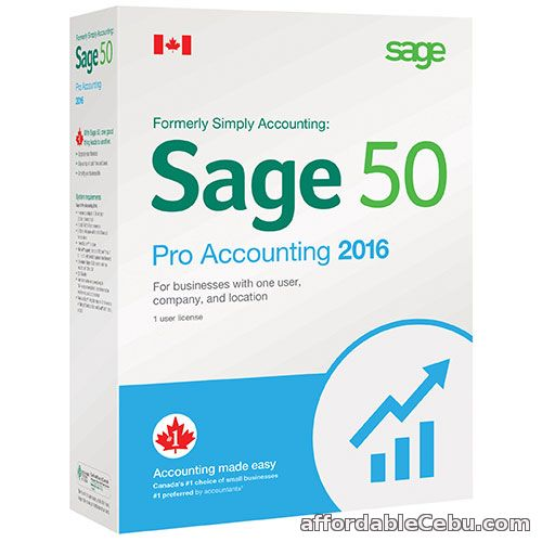 1st picture of SAGE 50 ACCOUNTING FOR A NEW ACCOUNTING SYSTEM For Sale in Cebu, Philippines