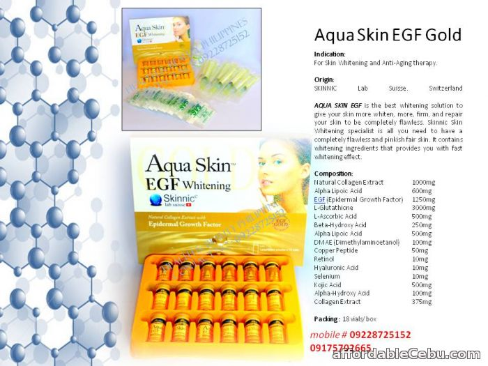 1st picture of aqua skin gold egf glutathione For Sale in Cebu, Philippines