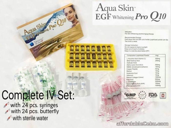 1st picture of aqua skin gold egf Pro q10 24 vials glutathione For Sale in Cebu, Philippines