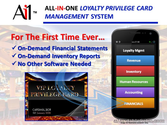 1st picture of Loyalty Privilege Card Software For Sale in Cebu, Philippines