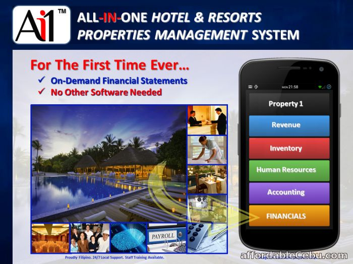 1st picture of Hotel and Resort Properties Management System For Sale in Cebu, Philippines
