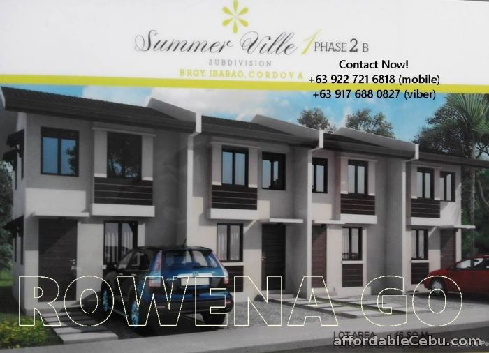 1st picture of SummerVille Townhomes Php 7,413 Per Month in Cordova, Cebu For Sale in Cebu, Philippines