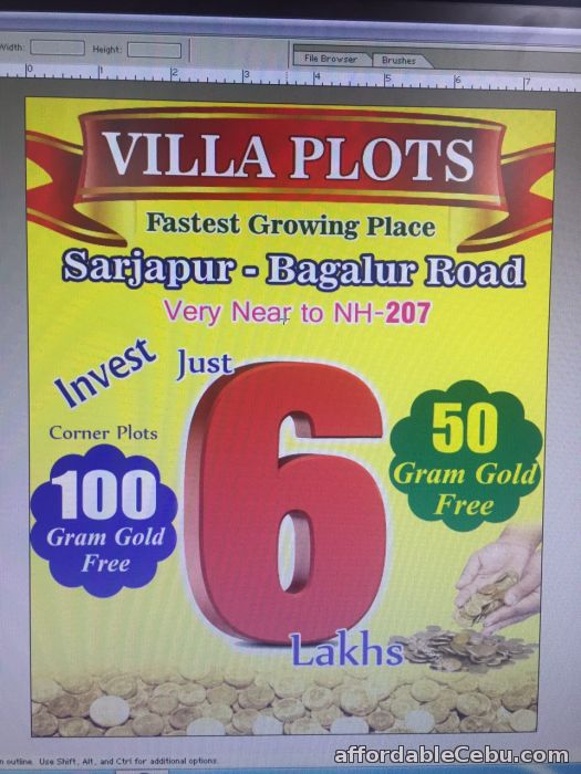 1st picture of Sites available within 5 Lakhs only in Bangalore 600 sq.ft – 1500 sq.ft villa plots in VIP Kings Town at Rs. 1000/- per sq.ft For Sale in Cebu, Philippines