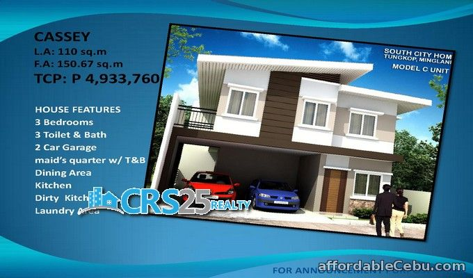 1st picture of House and lot for sale in south city homes minglanilla, cebu For Sale in Cebu, Philippines