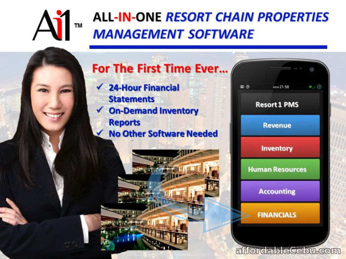 1st picture of Resort Chain Properties Management System For Sale in Cebu, Philippines