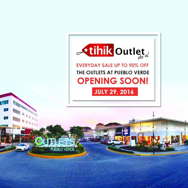 1st picture of Tihik Outlet Opening @ The Outlets at Pueblo Verde Announcement in Cebu, Philippines
