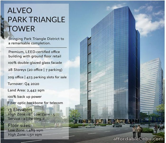 5th picture of Alveo Park Triangle Tower BGC Offer in Cebu, Philippines