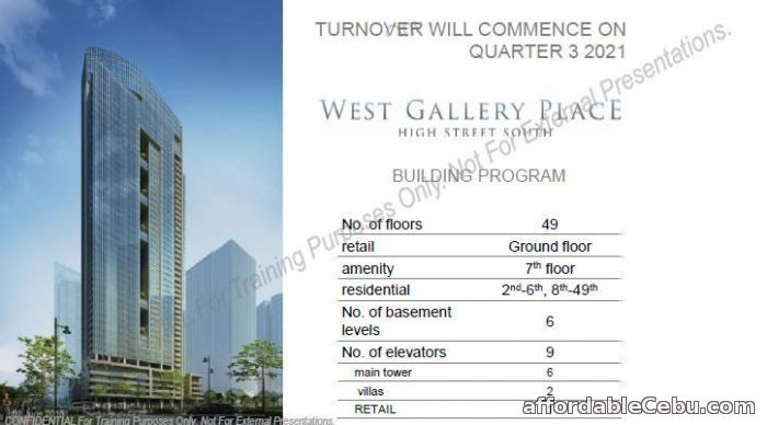 2nd picture of West Gallery Place BGC For Sale in Cebu, Philippines