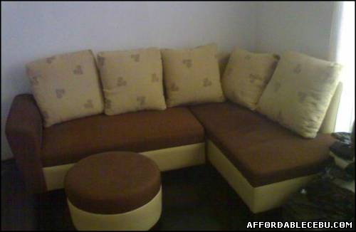 1st picture of Brown sectional sofa l shape For Sale in Cebu, Philippines