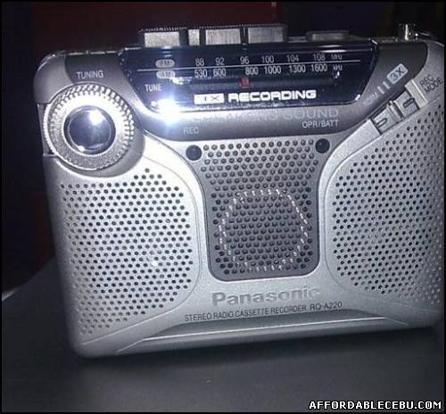 1st picture of Panasonic RQ-A220 Cassette Player-Recorder,tape recorder For Sale in Cebu, Philippines