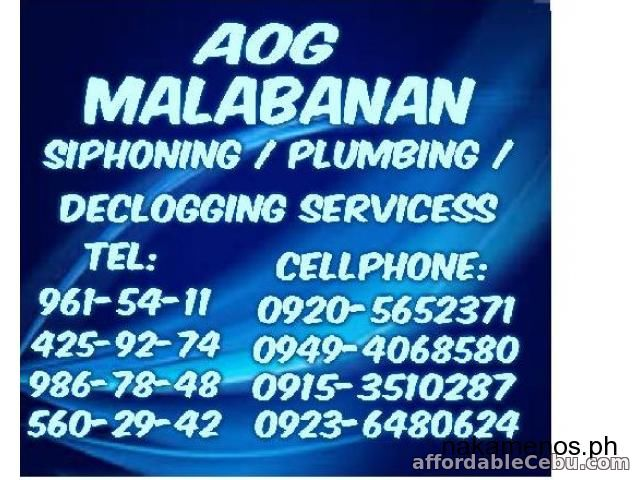 1st picture of 24/7 MALABANAN BEST IN SIPHONING AND OTHER SERVICES METRO MANILA AND NEAR PROVINCES 4259274 Offer in Cebu, Philippines
