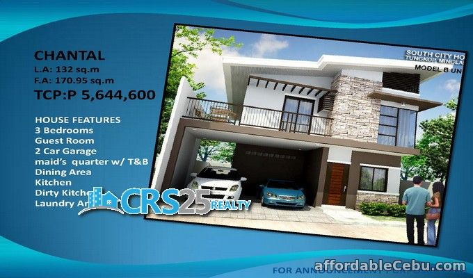 1st picture of 3 bedrooms house for sale in Minglanilla cebu city For Sale in Cebu, Philippines