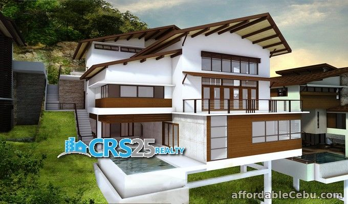 1st picture of 3 level overlooking house 4 bedrooms for sale in cebu For Sale in Cebu, Philippines