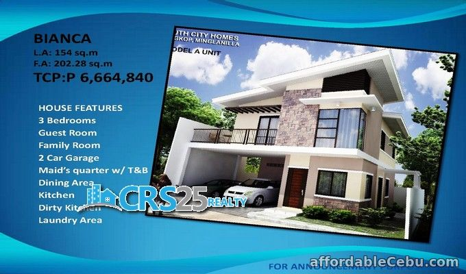 1st picture of South city homes 3 bedrooms house in Minglanilla cebu For Sale in Cebu, Philippines