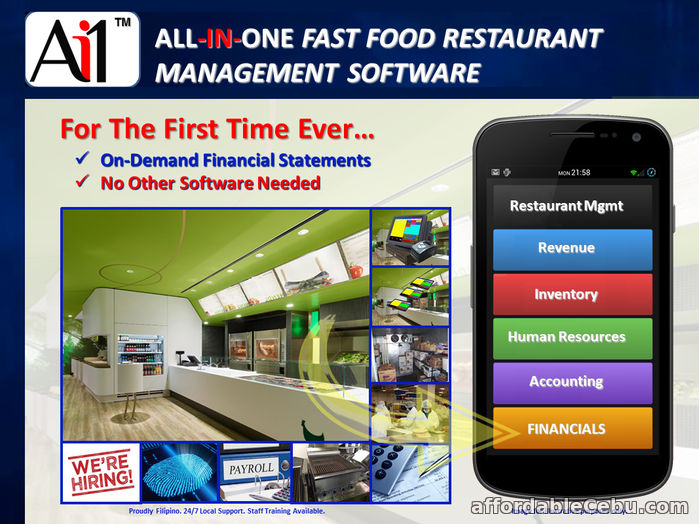 1st picture of Fast Food Restaurant Management System Software For Sale in Cebu, Philippines