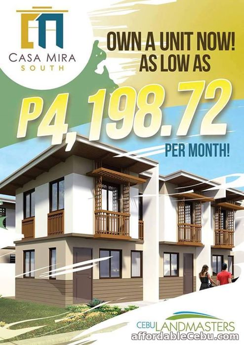 1st picture of CASA MIRA SOUTH NAGA CEBU for as low as 4k per month For Sale in Cebu, Philippines