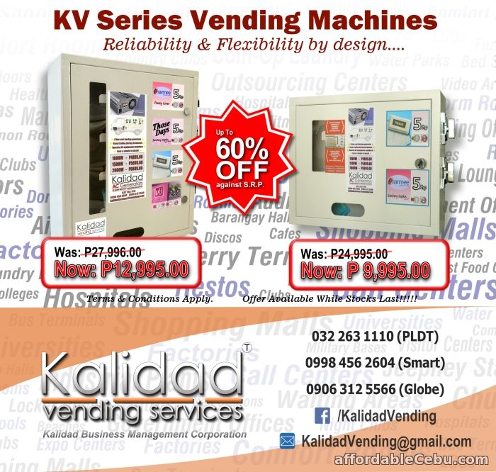 1st picture of SPECIAL OFFER!! -SMALL ITEM VENDING MACHINES- SAVE upto 60% For Sale in Cebu, Philippines