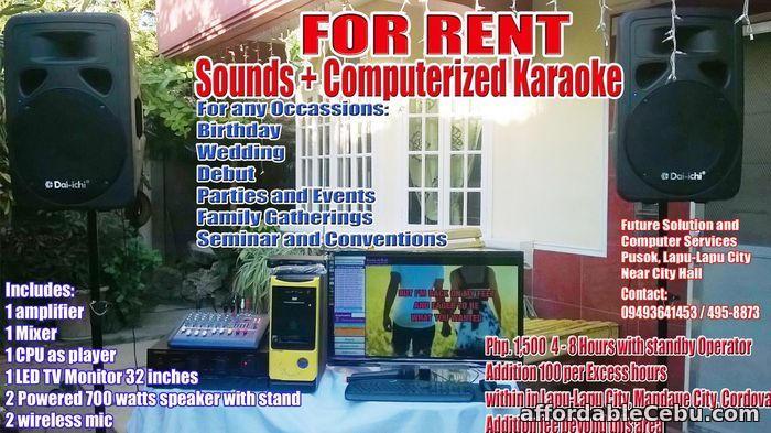 1st picture of Videoke For Rent Cebu For Rent in Cebu, Philippines