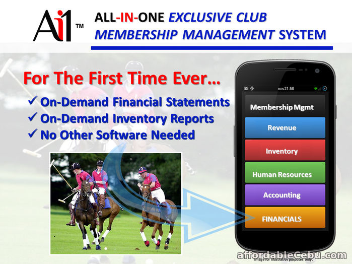 1st picture of Exclusive Club Membership Management System For Sale in Cebu, Philippines