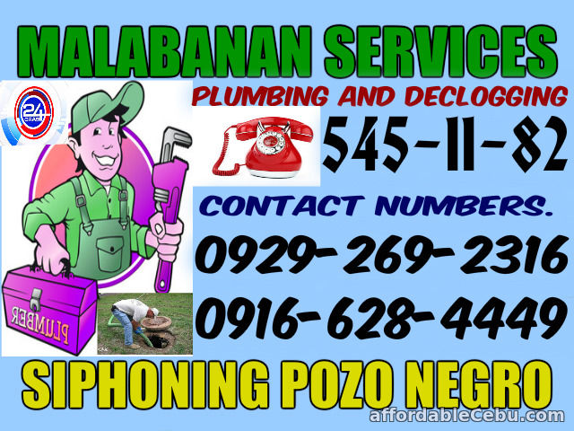 1st picture of ALL METRO MANILA AREA MALABANAN SIPHONING AND PLUMBING SERVICES Offer in Cebu, Philippines