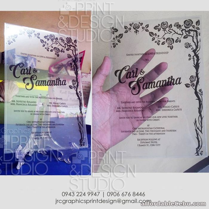 3rd picture of Invitations - wedding, debut, birthday, baptism, anniversary, any event For Sale in Cebu, Philippines
