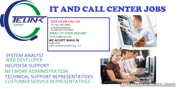 1st picture of iT and calll center jobs Offer in Cebu, Philippines