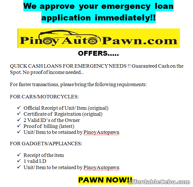 2nd picture of NEED CASH? WE ARE HERE TO HELP YOU! Offer in Cebu, Philippines