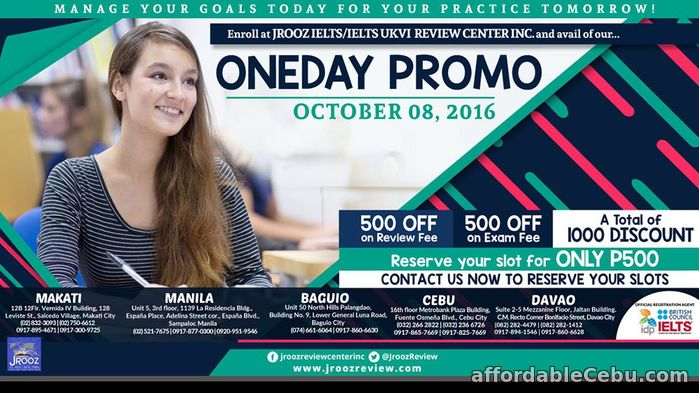 1st picture of Jrooz IELTS One Day Promo – October 08, 2016 (Cebu) Offer in Cebu, Philippines