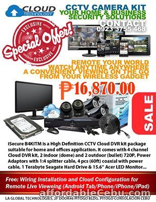 1st picture of HD CCTV SURVEILLANCE CAMERA KIT For Sale in Cebu, Philippines